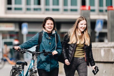 teens walking to school